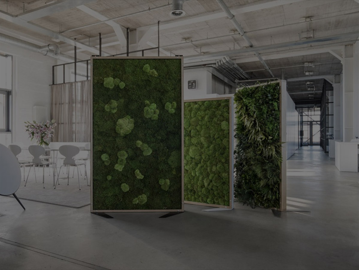 Mur végétal vivant, tableau vegetal, murs végétaux interieur, kit ...